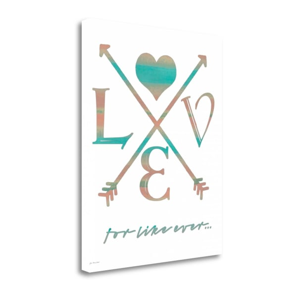For Like Ever By Jo Moulton Wrapped Canvas Wall Art
