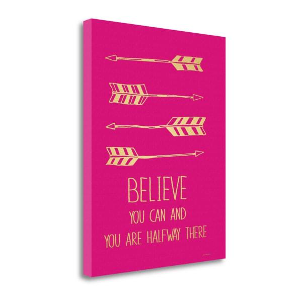 Fuchsia Believe By Jo Moulton Wrapped Canvas Wall Art