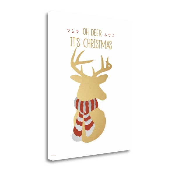 Oh Deer By Jo Moulton Wrapped Canvas Wall Art