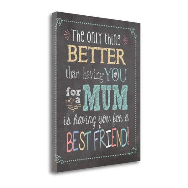 Best Friend Mum By Jo Moulton Wrapped Canvas Wall Art