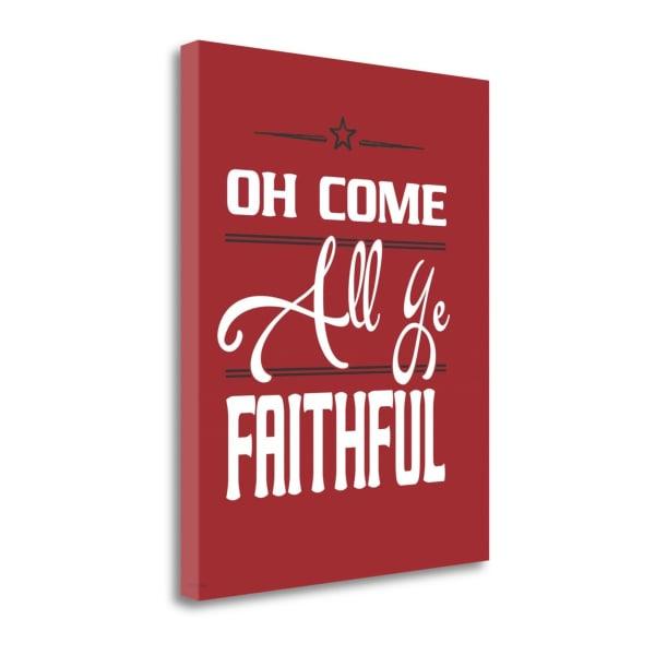 Faithful By Jo Moulton Wrapped Canvas Wall Art
