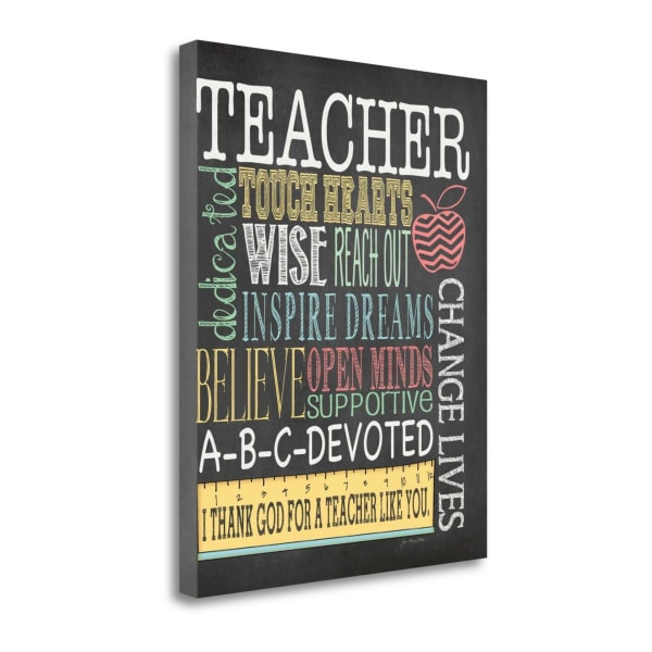 Teacher Subway By Jo Moulton Wrapped Canvas Wall Art
