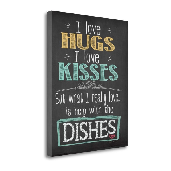 Hugs And Kisses By Jo Moulton Wrapped Canvas Wall Art