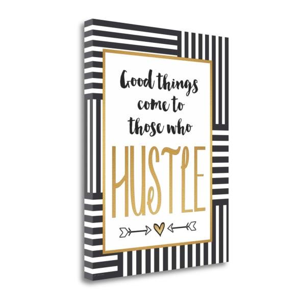 Hustle By Jo Moulton Wrapped Canvas Wall Art