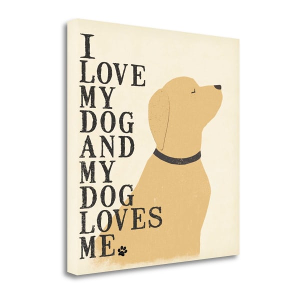 My Dog Loves Me By Jo Moulton Wrapped Canvas Wall Art