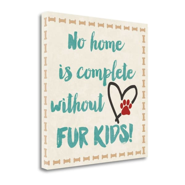 Fur Kids By Jo Moulton Wrapped Canvas Wall Art