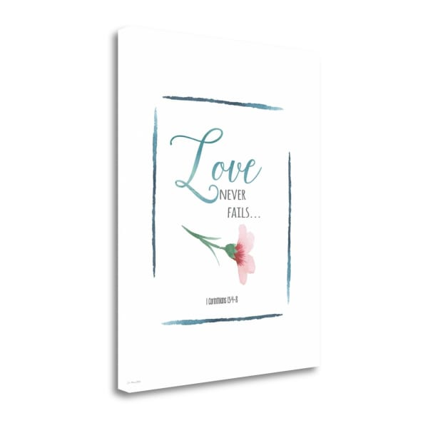 Love Never Fails By Jo Moulton Wrapped Canvas Wall Art