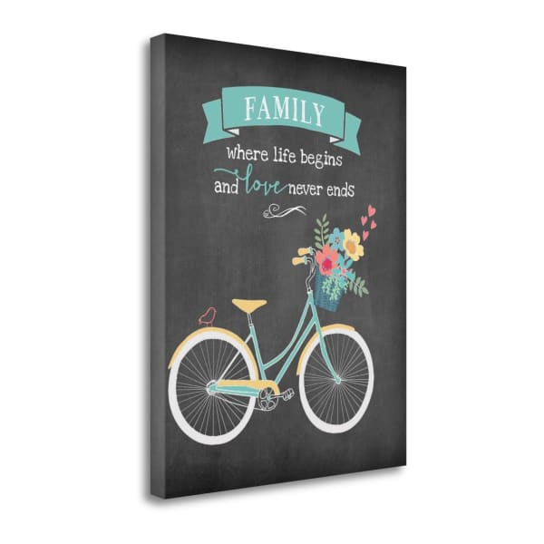 Family Begins By Jo Moulton Wrapped Canvas Wall Art