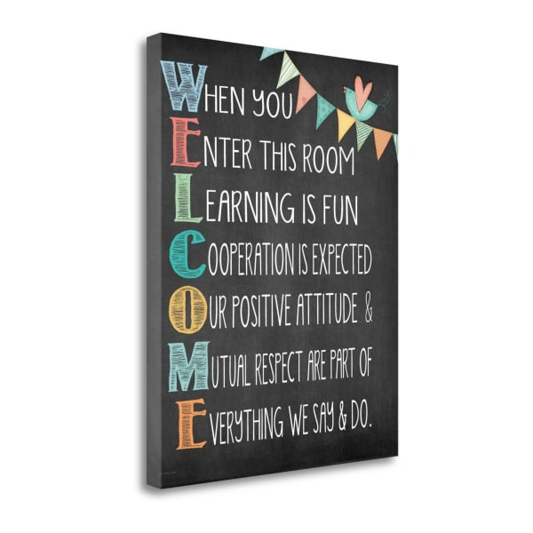 Welcome By Jo Moulton Wrapped Canvas Wall Art
