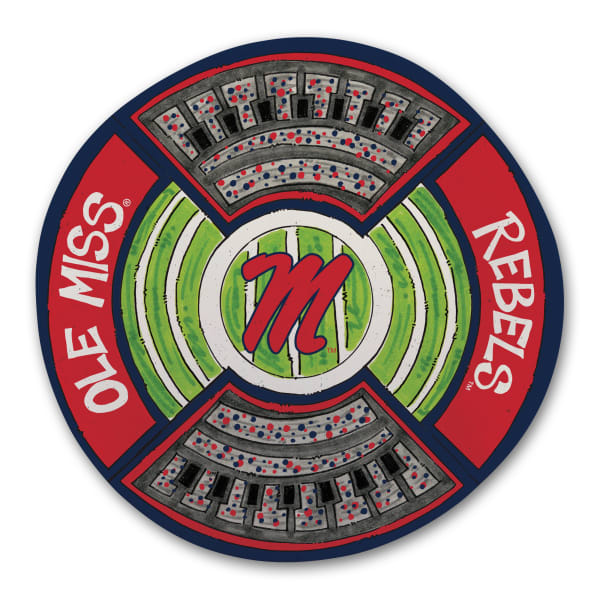 Ole Miss Rebels Melamine Stadium Platter