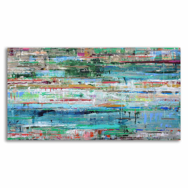 Print on Wrapped Canvas Wall Art  Tropic Reflection No. 2 by Ingeborg Herckenrath Multi Color