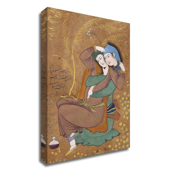 The Lovers by Riza-yi Abbasi Printed on Canvas