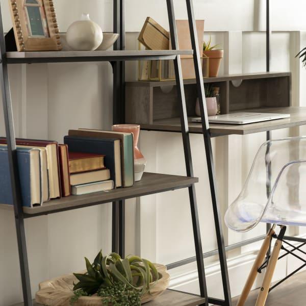 2-Piece Grey Wash Home Office Desk Set