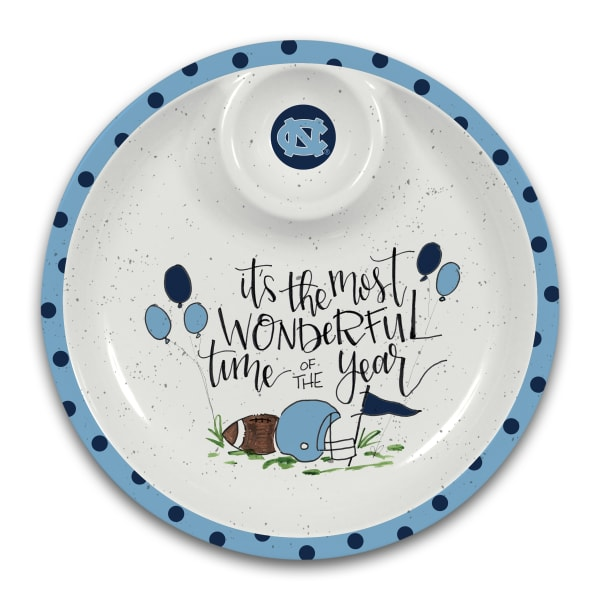UNC North Carolina Tar Heels Melamine Chip and Dip Server
