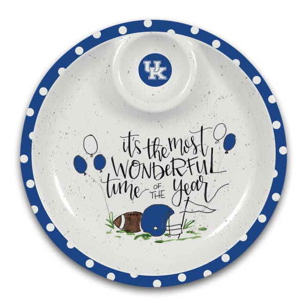 Kentucky Wildcats Melamine Chip and Dip Server