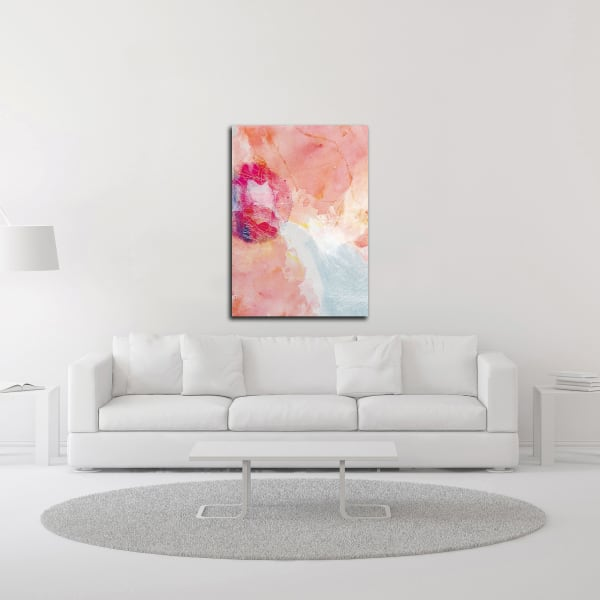 Abstract Turquoise Pink No. 2 by Louis Duncan-He Wrapped Canvas Wall Art