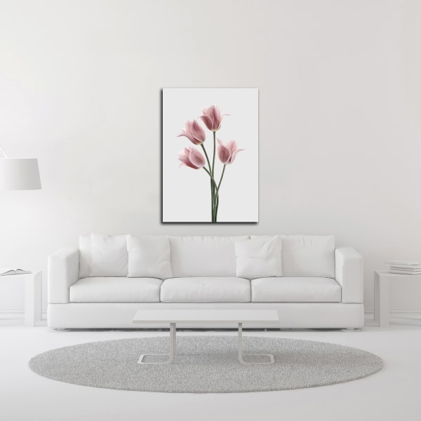 Tulips Pink by Design Fabrikken Wrapped Canvas Wall Art