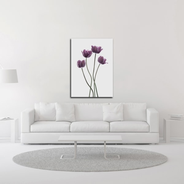 Tulips Purple by Design Fabrikken Wrapped Canvas Wall Art