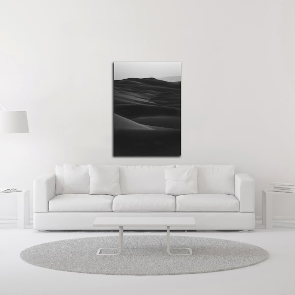 Black Dunes by Design Fabrikken Wrapped Canvas Wall Art