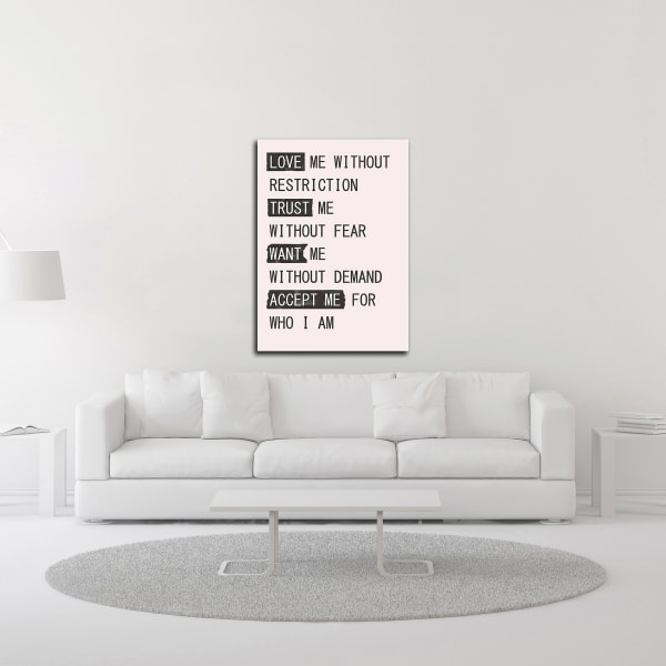 Love Me 1 by Design Fabrikken Wrapped Canvas Wall Art