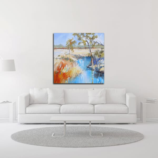 Summer Creek by Craig Trewin Penny Wrapped Canvas Wall Art