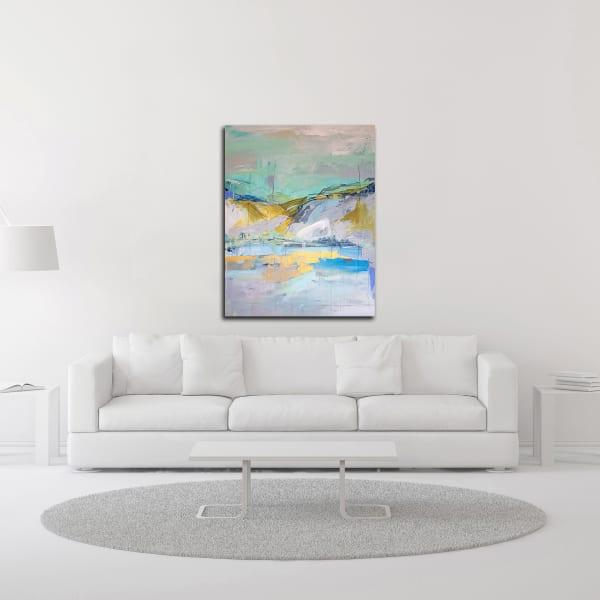 Sun Lake by Kym De Los Reyes Wrapped Canvas Wall Art