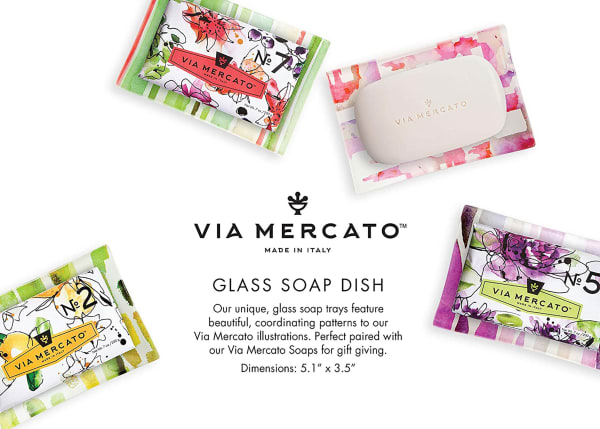 Via Mercato Purple Soap Dish