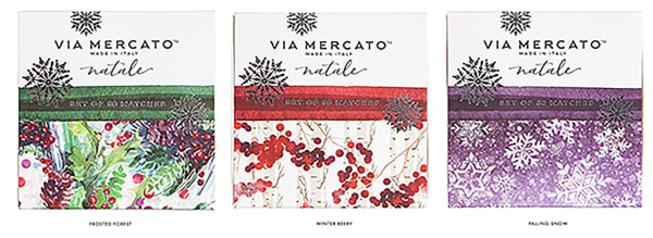 Via Mercato Natale Box Set Falling Snow Scented Matches