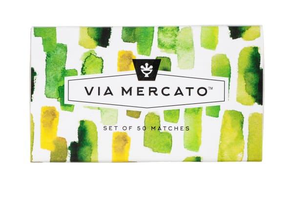 Via Mercato Green & Gold Scented Matches