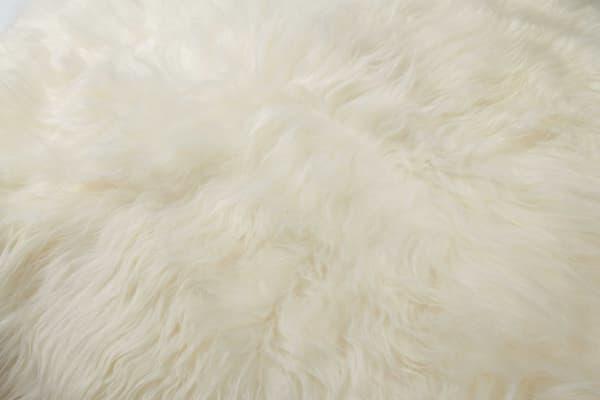Sheepskin Long-Haired White 4 x 5 Area Rug