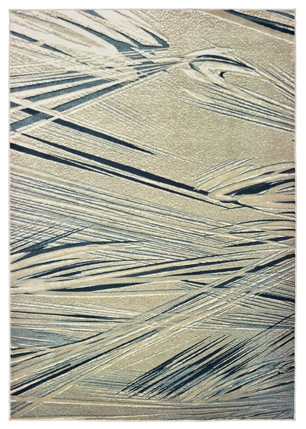 Modern Gray and Blue 12' x 15' Rug