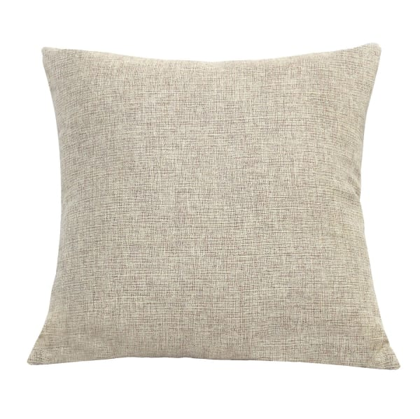 Tweed Accent Beige Pillow