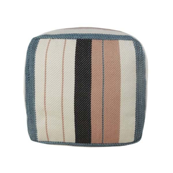 Mid-Century Modern Multicolored Pouf