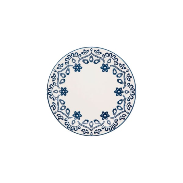 Floreal 24 Piece Blue and Ivory Dinnerware Set