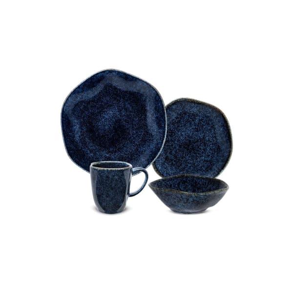 RYO 16 FPiece Blue Dinnerware Set