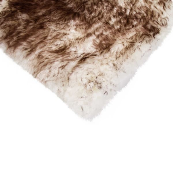 Sheepskin Chocolate Seat Cover