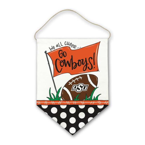 Oklahoma State Canvas Football Door Hanger