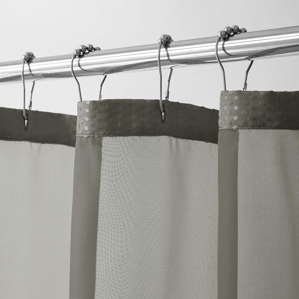 Waffle Grey 2pc Shower Curtain with Detachable Liner