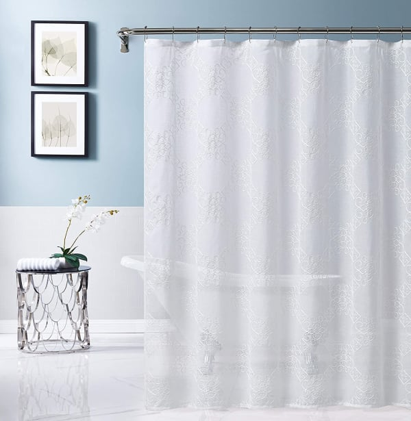 Isabella Embroidered Shower Curtain