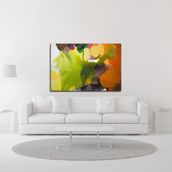 Leaf by Lina Alattar Wrapped Canvas Wall Art