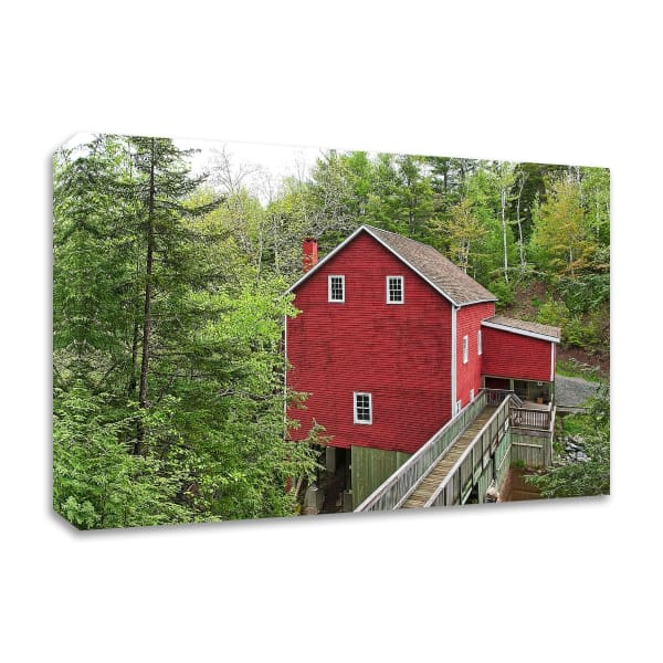 The Old Gristmill by Chuck Burdick Wrapped Canvas Wall Art
