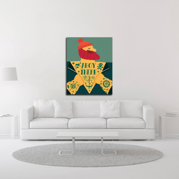Ahoy There by Michael Buxton Wrapped Canvas Wall Art