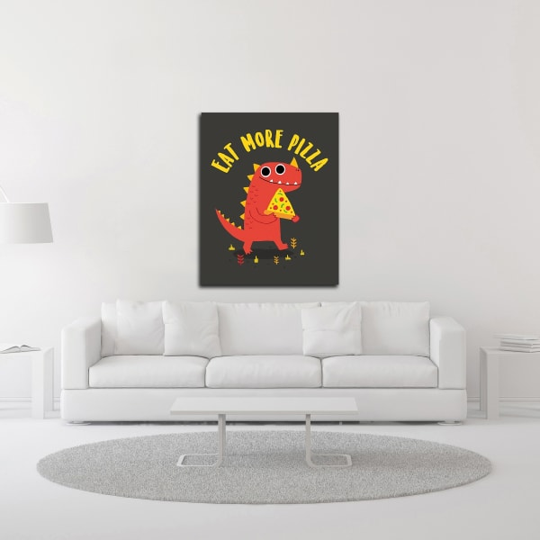 Eat More Pizza by Michael Buxton Wrapped Canvas Wall Art