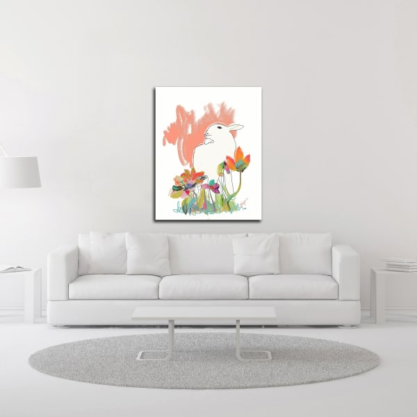 Lamb and Flowers by Niya Christine Wrapped Canvas Wall Art