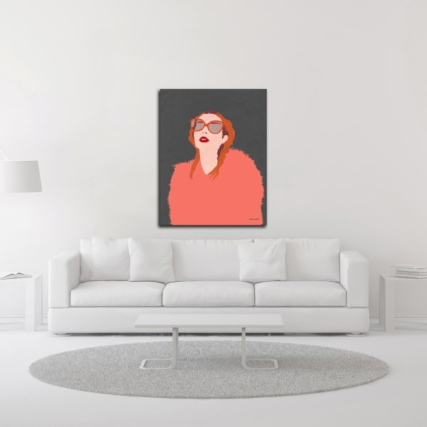 Orange Fur by Megan Galante Wrapped Canvas Wall Art