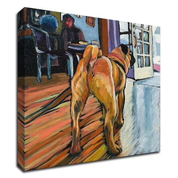 A Pug's View by Kathryn Wronski Wrapped Canvas Wall Art