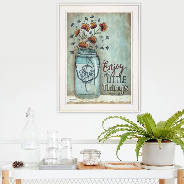 Enjoy the Little Things by Tonya Crawford Framed Wall Art