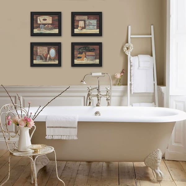 Bathroom I Collection By Pam Britton Framed Wall Art