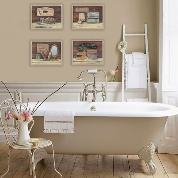 Bathroom II Collection By Pam Britton Framed Wall Art