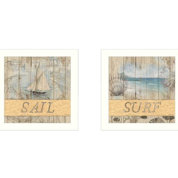 Sail/Surf Collection By Dee Dee Framed Wall Art